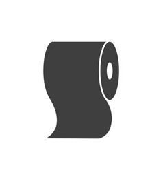 toilet paper icon isolated on white background vector image