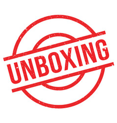 Unboxing rubber stamp vector
