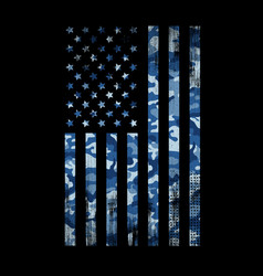 usa flag navy camouflage vector image
