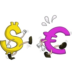 usd against euro vector image