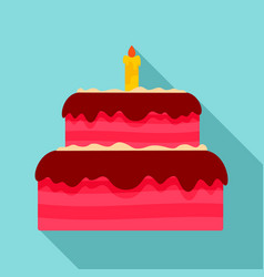 vanilla cake icon flat style vector image