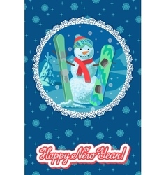 winter sport card vector image