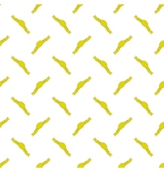 Yellow Ribbons Seamless Pattern vector image