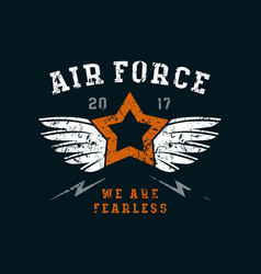 Air force emblem vector