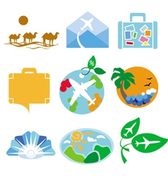 Collection of logos for travel agencies vector image vector image