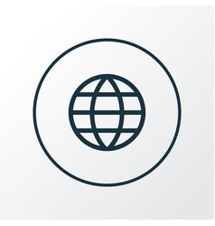 earth icon line symbol premium quality isolated vector image