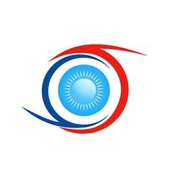 eye ball abstract logo vector image