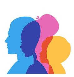 Family icons head vector