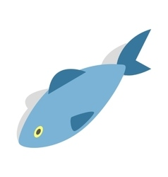 Fish icon isometric 3d style vector image