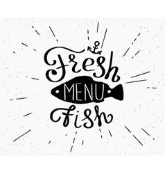 Freash fish menu vector image vector image
