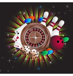 Gambling equipment vector image
