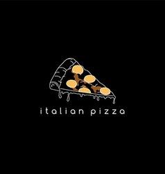 pizza slice logotype vector image
