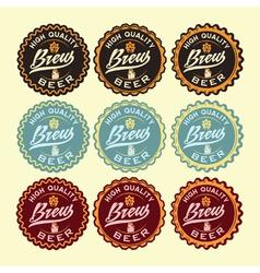 set of vintage beer labels vector image