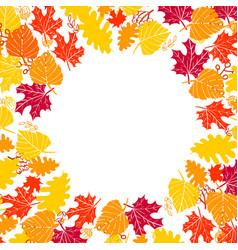 autumn frame vector image