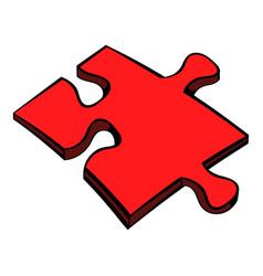 puzzle icon icon cartoon vector image