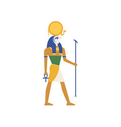 ra the god of the sun egyptian ancient culture vector image