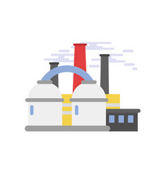 refinery plant industrial building vector image