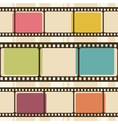 Retro background with film strips vector image vector image