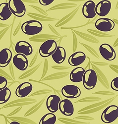 Seamless background with black olives vector image