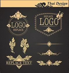 Set thai art design elements vector
