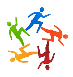 Team Runners 5 vector image