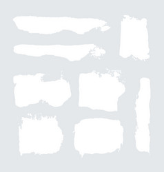 white grunge watercolor ink texture set vector image