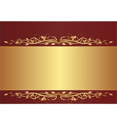 burgundy and gold background vector image vector image