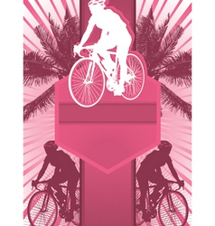 cycling design poster vector image