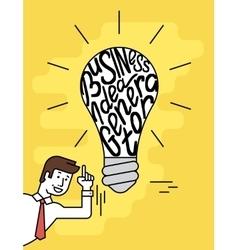 Business idea generator vector image
