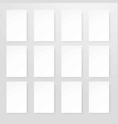 empty sheets of paper in realistic design flat vector image vector image