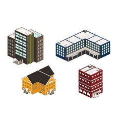 isometric building set vector image vector image