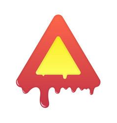 melting warning icon blank beware symbol vector image