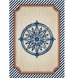 nautical poster vector image