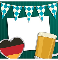 oktoberfest decoration vector image vector image