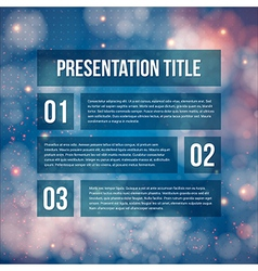Template for Your business presentation Blurred vector image
