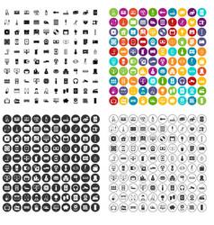 100 appliances icons set variant vector