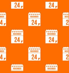 24 november calendar pattern seamless vector image