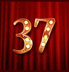 37 anniversary elegance gold logo vector
