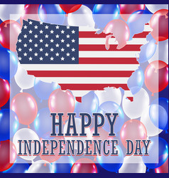4th july independence day balloon background vector image