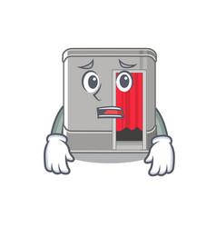 Afraid photo booth isolated with cartoon vector