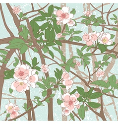 apple flowers background vector image