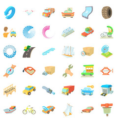 auto repairing icons set cartoon style vector image