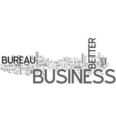 Better business bureau text word cloud concept vector