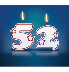 Birthday candle number 52 vector