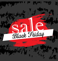 black friday discount background vector image