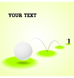 Bouncing golf ball vector image