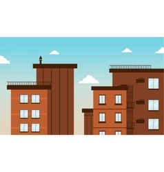 Building city in flat art vector