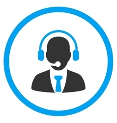 Call center circled icon vector