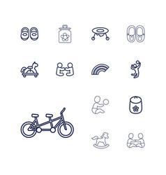 Children icons vector