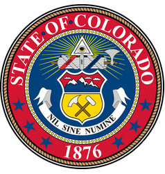 Coat of arms of colorado in united states vector